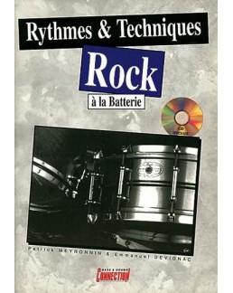 Rytmes et techniques rock à la batterie CD