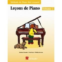 Leçons de piano HAL LEONARD 3