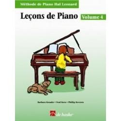 Leçons de piano HAL LEONARD 4
