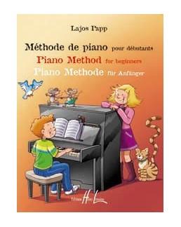 Méthode de piano pour débutants Lajos PAPP