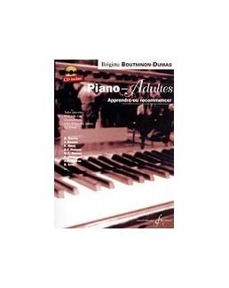 Piano pour adultes débutants BOUTHINON DUMAS