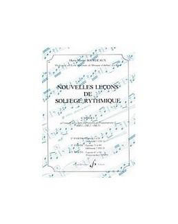 Nouvelles leçons de solfège rythmique BOURDEAUX vol 1