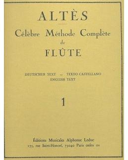 Célèbre méthode de flûte ALTES vol 1