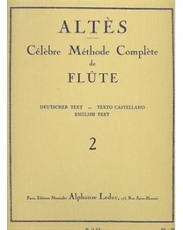 Célèbre méthode de flûte complète ALTES vol 2