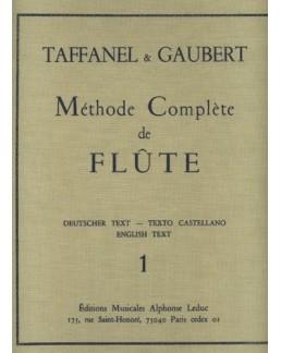 Méthode complète de flûte TAFFANEL & GAUBERT VOL 1