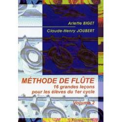 Méthode de flûte BIGET JOUBERT vol 2