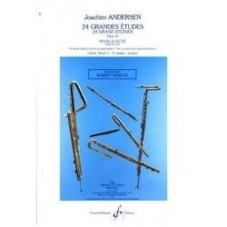 ANDERSEN 18 petites études opus 41 flûte