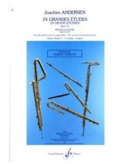 ANDERSEN 24 grandes études opus 15 vol 1