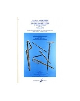 ANDERSEN 24 grandes études opus 15 vol 2 flûte