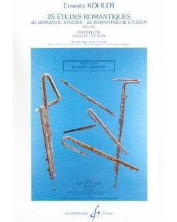 KOHLER 25 études romantiques flûte