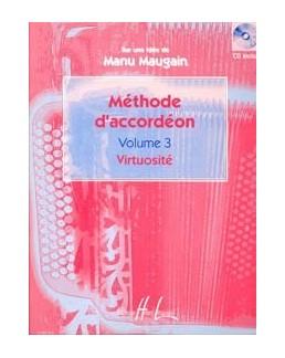Méthode accordéon MAUGAIN vol 3 avec CD