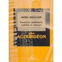 Exercices techniques et gammes accordéon MAUGAIN