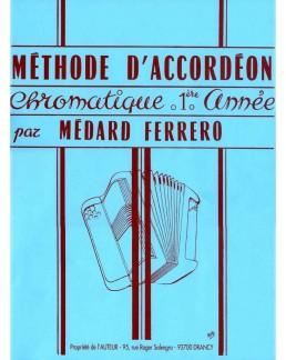 Méthode d'accordéon chromatique FERRERO 1ère année