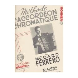 Méthode d'accordéon chromatique FERRERO complète