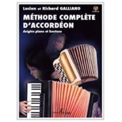 Méthode complète d'accordéon GALLIANO avec CD