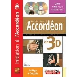 Initiation à l'accordéon en 3D MAUGAIN CD + DVD