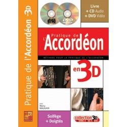 Pratique de l'accordéon en 3D MAUGAIN CD + DVD