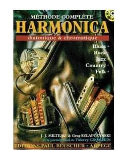 Méthode complète harmonica diatonique & chromatique MILTEAU  SZLAPCZYNSKI avec CD