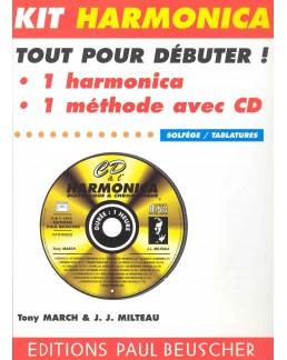 Kit CD à l'harmonica +  harmonica blues HOHNER