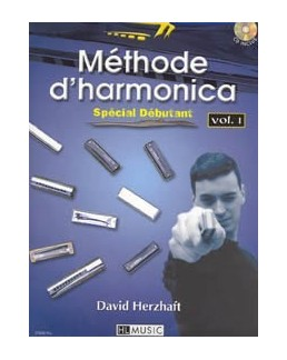 Méthode d'harmonica Vol.1 HERZHAFT David + CD
