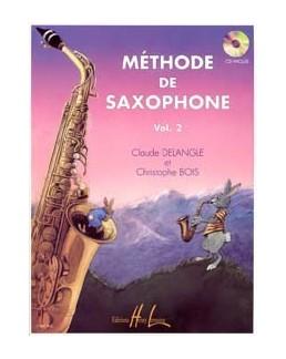 Méthode de saxophone  DELANGLE BOIS VOL 2 avec CD