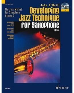 Developping jazz technique O'NEILL sax alto avec CD