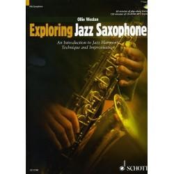 Exploring jazz saxophone alto sax Ollie WESTON avec CD