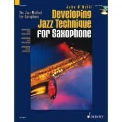 Developping jazz technique O'NEILL sax tenor avec CD