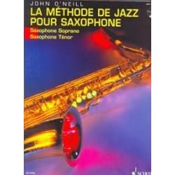 La méthode de jazz pour saxophone O'NEIL sax tenor avec CD