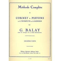 Méthode complète de cornet à pistons BALAY vol 2