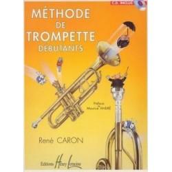 Méthode de trompette débutants René CARON avec CD