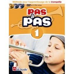 PAS A PAS méthode trompette avec CD et DVD
