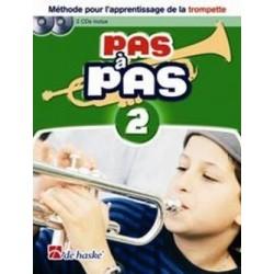PAS A PAS méthode trompette 2 avec CD et DVD