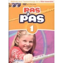 PAS A PAS méthode flûte 1 avec CD et DVD