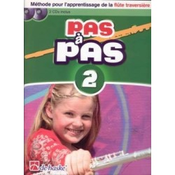 PAS A PAS méthode flûte 2 avec CD et DVD