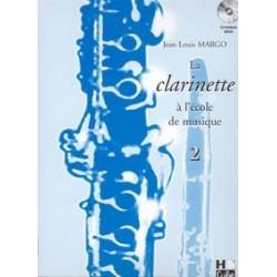 La clarinette à l'école de musique MARGO vol 2 avec CD