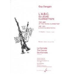 ABC du jeune clarinettiste Guy DANGAIN vol 1