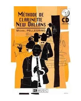 Méthode de clarinette new orleans PELLEGRINO avec CD