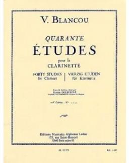 40 études pour la clarinette BLANCOU vol 1
