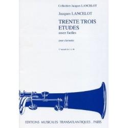 33 études assez faciles Jacques LANCELOT vol 1