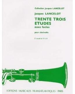33 études assez faciles Jacques LANCELOT vol 2