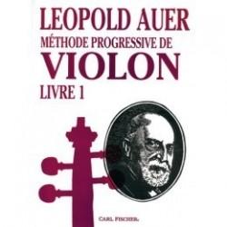 Méthode progressive de violon Léopold AUER Livre 1