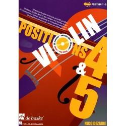 Violin position 4 & 5 Nico DEZAIRE avec CD