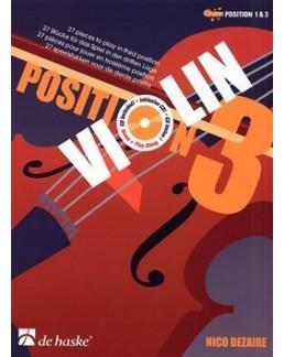 Violin position 3 Nico DEZAIRE avec CD