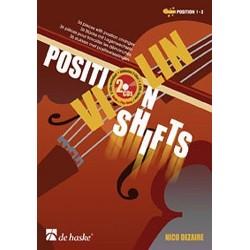 Violin position shifts Nico DEZAIRE avec CD