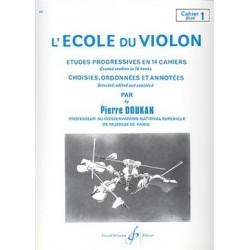 L'école du violon Pierre DOUKAN cahier 1