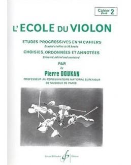 L'école du violon Pierre DOUKAN cahier 2