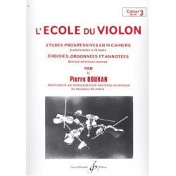 L'école du violon Pierre DOUKAN cahier 3