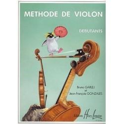 Méthode de violon débutants GARLEJ/GONZALES