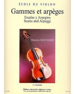 Gammes et arpèges HAUCHARD 1er cahier